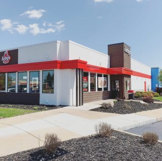 3 Quick Facts of a past project of ours: this was an 8week renovation. We did this renovation while Arby's was open for business, and this project was completed for one of our repeat clients! . . #arbys #fastfood #renovation #construction #indianaconstruction #repeatclient #exteriorfacade #commercialproject #chainrestaurant