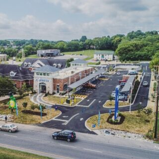 Pure Clean Car Wash was a 6 month build in Columbia TN. We were able to value engineer parts of the project to help eliminate unwanted costs, while maintaining the function and quality.  . . #tennessee #carwash #columbiatennessee #luxurycarwash #valueengineering #groundup #construction #dronephotography