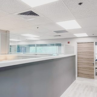 Just a glimpse at the office build out for this rapidly growing company.  . . #business #officebuilding #buildout #commercialconstruction #interiordesign #whiteandgrey #constructionfirm #moderninteriors