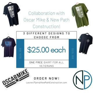 We are excited to announce that we have collaborated with the Oscar Mike Foundation! This foundation is focused on providing funding for injured Veterans so that they are able to participate in life-changing adaptive sports. The New Path Marketing team has worked closely with the Oscar Mike team over the past 2 months to help support their mission.  The end result; 3 different t-shirts, that are now for sale!   100% of the proceeds from these t-shirts will be donated back to the Oscar Mike Foundation. New Path is proud to employ several formal military personnel and continues to appreciate the sacrifices made by the men and women of the armed forces.  T-shirts are available for $25.00. Supplies are limited, so move quickly!  Email:  Lauren.Flynn@NewPathConstruction.com to place your order today! . . #nonprofit #donate #veterans #goodcause #marketing #oscarmikefoundation #oscarmike #newpathconstruction #volunteer #chicagoland #generalcontractor