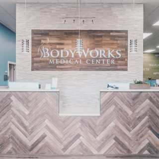 We completed both the tenant and landlord work for our repeat clients in Carol Stream. Bodyworks is an integrated medical clinic that utilizes a unique approach to patient care. Check them out for yourself, they are an excellent group! . . #bodyworks #integratedhealth #medicalclinic #chiropractic #physicaltherapy #medical #medicaloffice #herringbone #shiplap #stoneaccentwall #tilework
