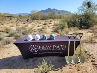 There are many exciting things taking place at New Path. Last week we had one of our many spring groundbreakings. Congrats to our clients in Cave Creek, AZ! We wish you nothing but success and prosperity and we are excited to be part of this new location.  . . #ArizonaCRE #Groundbreaking #cavecreekaz #groundup #newconstruction #petsuites #commercialconstruction #petboarding #generalcontractor #nationalreach
