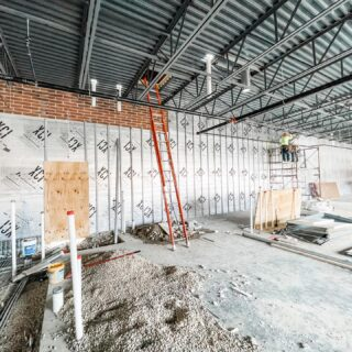 Work in the interior of the C-Store of this ground up gas station is moving right along. Plastic vapor barrier for the coolers, conduit from the pumps into the electrical room, and insulation for the exterior walls are some of the latest advances this week.  . . #groundup #gasstation #groundup #cstore #developer #vaporbarrier #insulation #brickbuilding #construction #constructionsite #underconstruction #superintendent #commercialrealestate #commercialconstruction #cre #landdevelopment